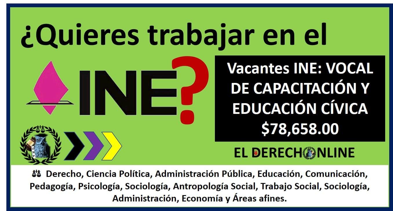 plazas vacantes del servicio profesional electoral del ine