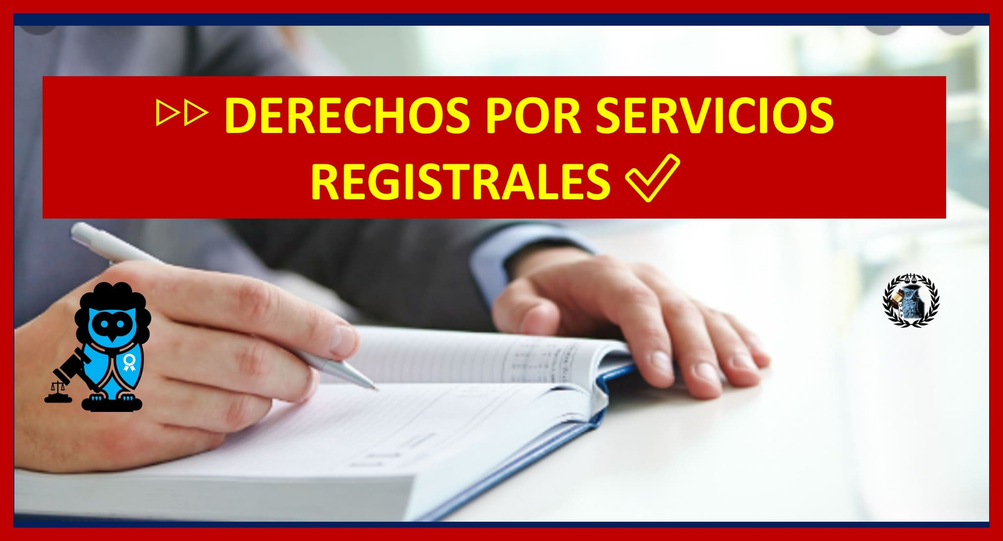Photo of DERECHOS POR SERVICIOS REGISTRALES