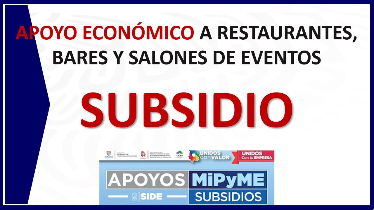 Photo of Subsidio a Restaurantes, Bares y Salones Eventos