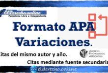 Formato APA variaciones