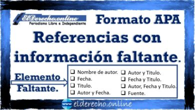 Photo of Formato APA referencias con información faltante