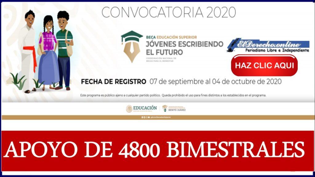 Beca Jóvenes Escribiendo el Futuro: Convocatoria 2020-2021