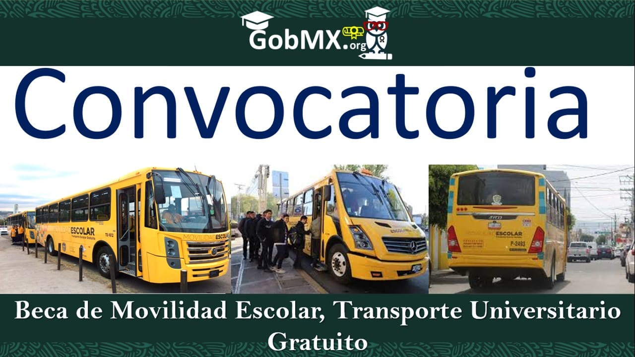 Beca de Movilidad Escolar, Transporte Universitario Gratuito